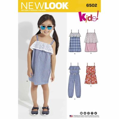 New Look Sewing Pattern 6502 Child's Jumpsuit, Romper and Dresses