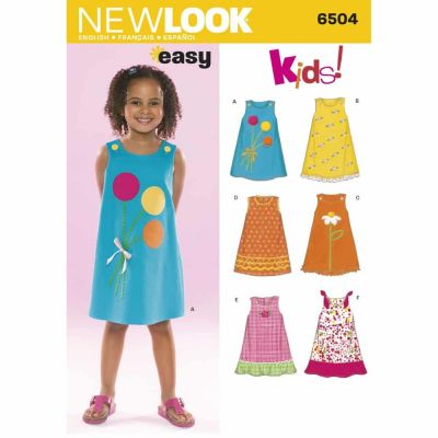 New Look Sewing Pattern 6504 Child Dresses