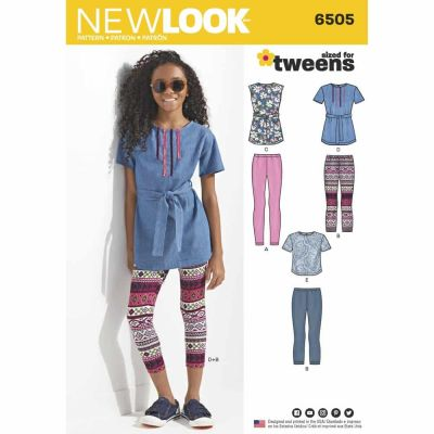 New Look Sewing Pattern 6505 Girl & Girl Plus Tops and Leggings