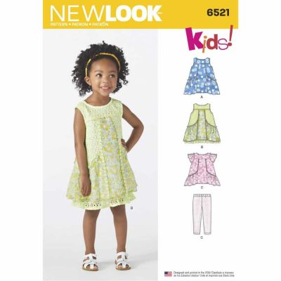New Look Sewing Pattern 6521 Toddler Dress, Tunic and Pants