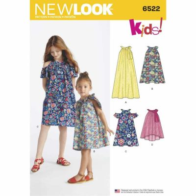 New Look Sewing Pattern 6522 Child's and Girls' Dresses and Top