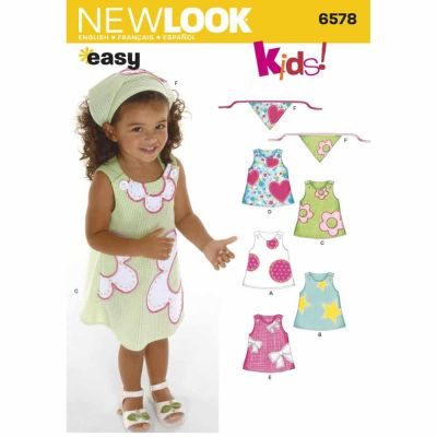 New Look Sewing Pattern 6578 Toddler Dresses