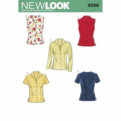 New Look Sewing Pattern 6598 Misses Tops