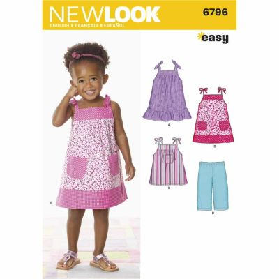 New Look Sewing Pattern 6796 Toddler Separates