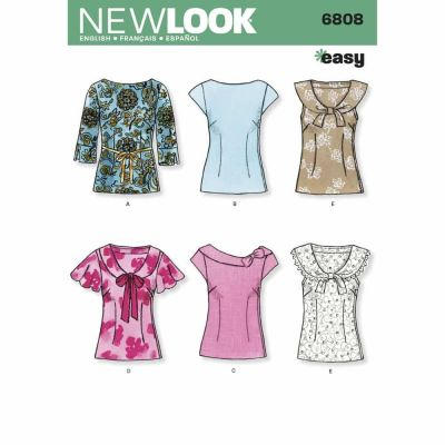 New Look Sewing Pattern 6808 Misses Tops