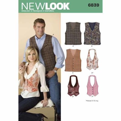 New Look Sewing Pattern 6839 Miss/Men Separates