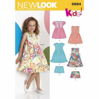 New Look Sewing Pattern 6884 Child Dresses