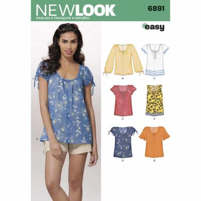 New Look Sewing Pattern 6891 Misses Tops