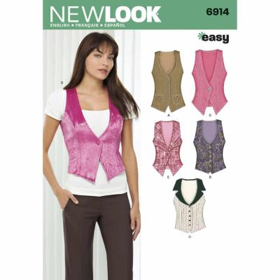 New Look Sewing Pattern 6914 Misses Tops