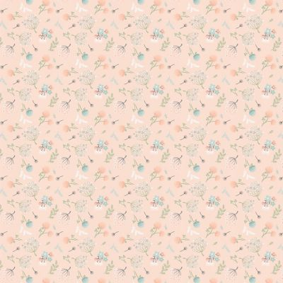 Nutex - Woodland Songbirds - Woodland Floral Peach