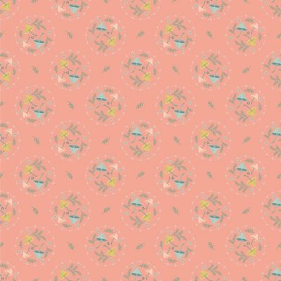 Nutex - Woodland Songbirds - Mushroom Toss Peach