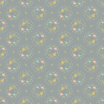 Nutex - Woodland Songbirds - Mushroom Toss Grey