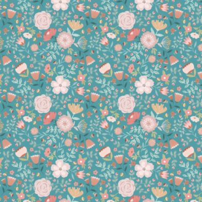 Nutex - Goose Creek - Wildflowers Teal