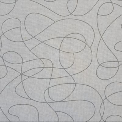 Remnant -Nutex - Extra Wide Fabric - Squiggle Grey - 52 x 274cm