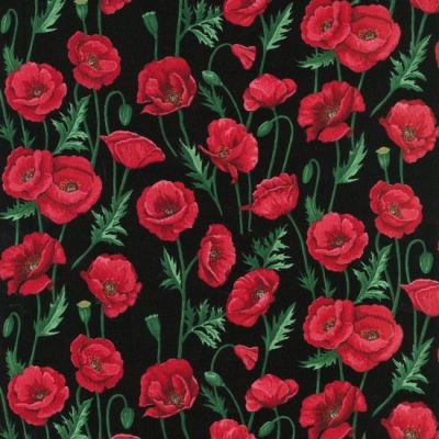 Nutex - Poppies - Stems Black