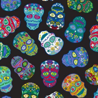 Nutex Sugar Skulls Black Cut Length
