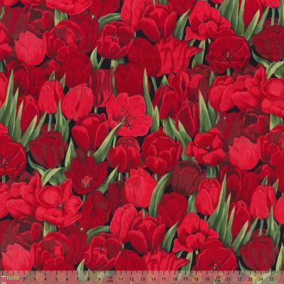 Nutex Florals Tulips Cut Length