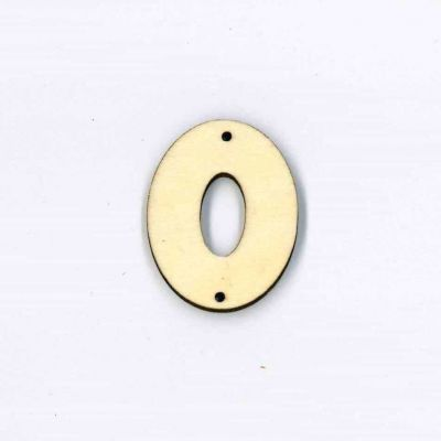Wooden Letter Button - Letter O