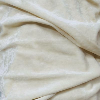 Remnant -Organic Bamboo Velour Fabric - Natural - 120cm x 150cm - Bolt End/Creased