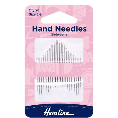 Hemline Between/Quilting Hand Sewing Needles- Size 3-9: 20 Pieces