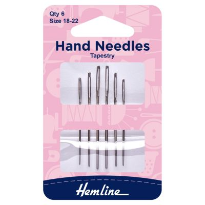 Hemline Tapestry Hand Sewing Needles - Size 18-22
