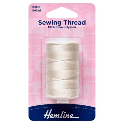 Hemline Sewing Thread - 5 x 1000m - Natural
