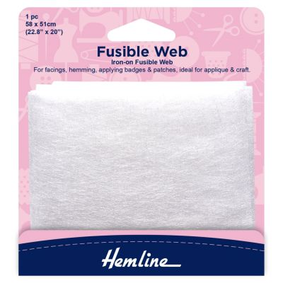 Hemline Iron-on Fusible Web - 58 x 51cm - 1 Piece
