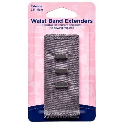 Hemline Waistband Extender Hook - Light Grey - Extends (2.5-5cm)