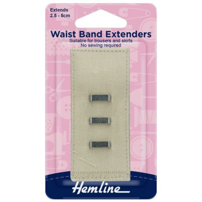 Hemline Waistband Extender Hook - Nude - Extends (2.5-5cm)