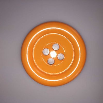 Orange Extra Large Clown Buttons Size 80L - 51mm