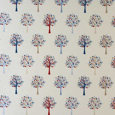 Trees - Blue - Curtain Fabric