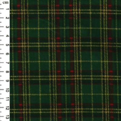 Christmas Cotton Tartan Green
