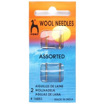 Pony Gold Eye Sewing Needles - Wool Needles