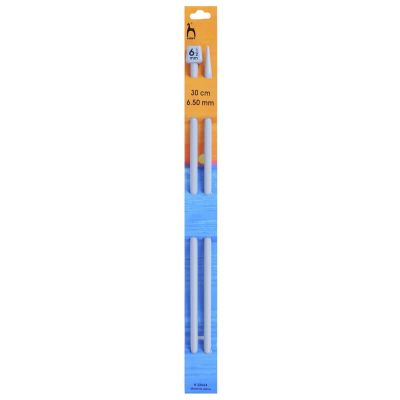 Pony Classic Pair Of Single Ended Knitting Pins - 30cm x 6.5mm