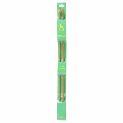 Pony Pair Of Bamboo Single Ended Knitting Pins - 33cm x 3.5mm