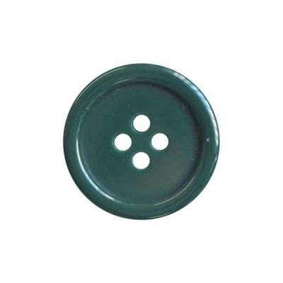 4 Hole Round Coat / Clothing Button - Bottle Green - 18mm / 28L
