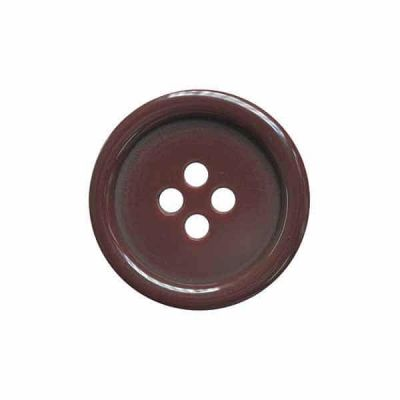4 Hole Round Coat / Clothing Button - Burgundy - 18mm / 28L