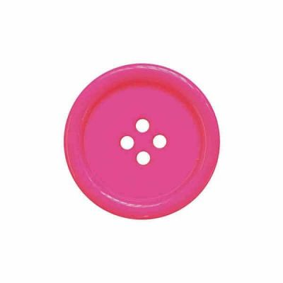 4 Hole Round Coat / Clothing Button - Cerise - 18mm / 28L