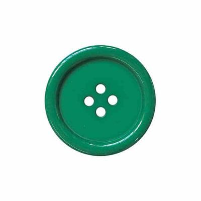 4 Hole Round Coat / Clothing Button - Green - 28mm / 44L