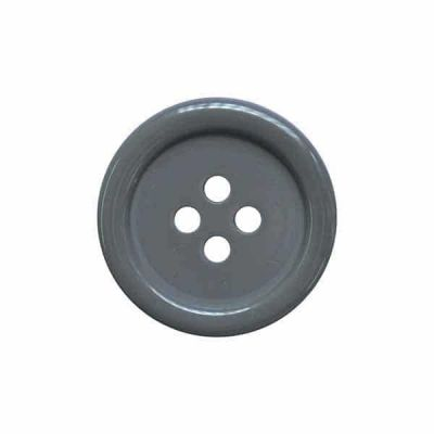 4 Hole Round Coat / Clothing Button - Grey - 20mm / 32L