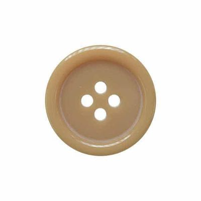 4 Hole Round Coat / Clothing Button - Tan - 18mm / 28L