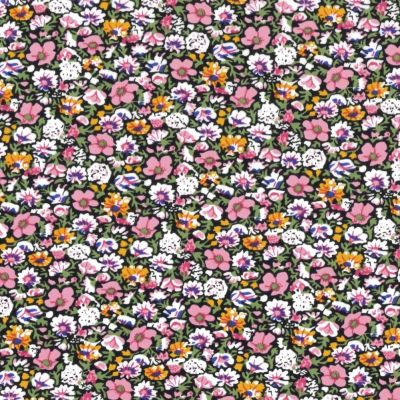 Regency Cotton Lawn Fabric - Packed Small Pink Flowers