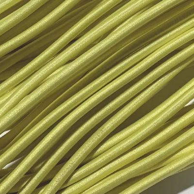 Round Elastic Cord - 3mm Wide - Pale Yellow