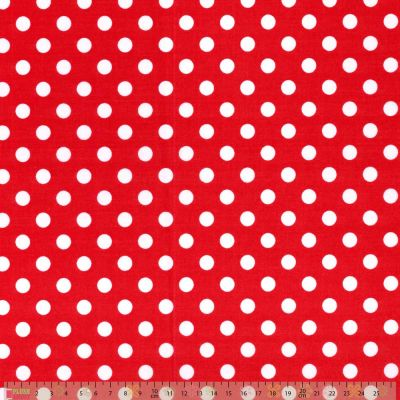 Polycotton - Peaspot Red