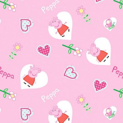 Cotton Poplin Fabric - Peppa Pig