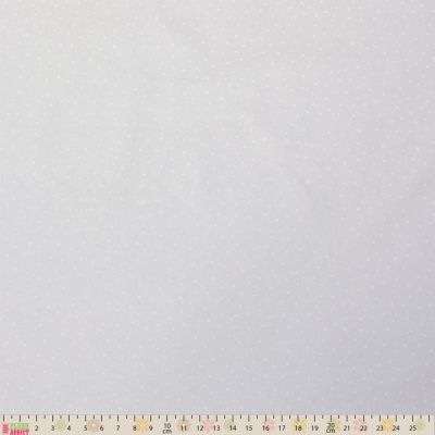 Remnant -Nutex - Extra Wide Fabric - Spots White On White - 145xm x 280cm - Bolt End/Marked