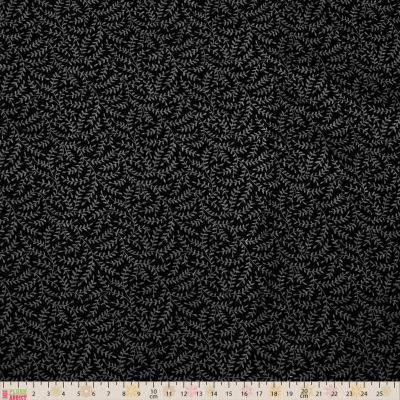 Nutex - Extra Wide Fabric - Fronds Black