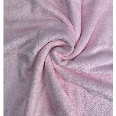 Remnant -Premium Pink Bamboo Terry Towelling - 45 x 150cm