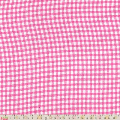 Yarn Dyed Gingham Medium Weight Cotton - Pink & White