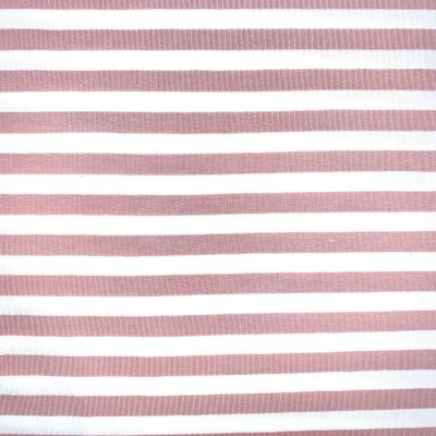 Yarn Dyed Cotton Jersey Knit - Pink Stripe